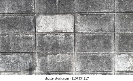 Dark and silver brick wall,texture of black and silver blocks.