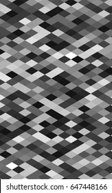 Dark Silver, Gray triangle mosaic pattern. Creative illustration in halftone style with gradient. The elegant pattern can be used as part of a brand book.
