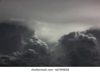 dark sky ,black cloud before rain storm