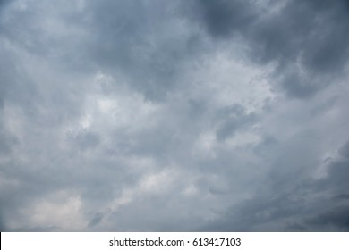 Dark sky and black clouds