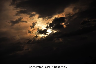 Dark sky with clouds