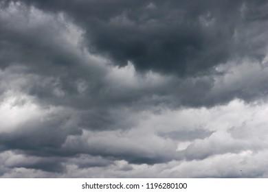 Dark sky with clouds