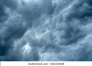 Dark sky with clouds before raining