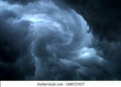Dark sky during thunderstorm or dark clouds background