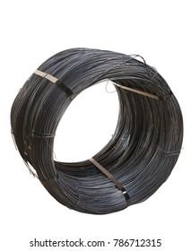 dark steel wire coil