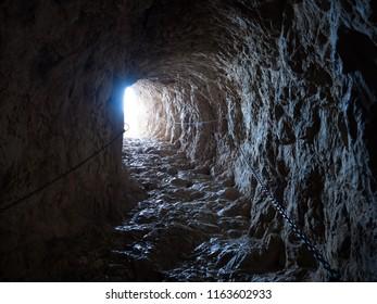 Dark stone tunel