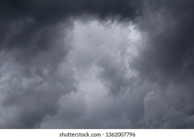 Dark storm clouds background.