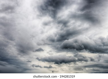 Dark storm clouds background. HDR image