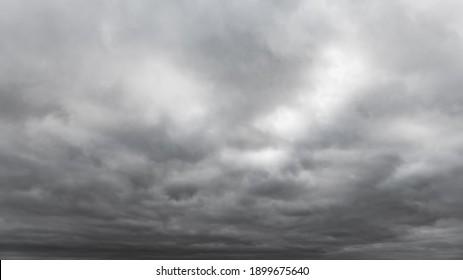 Dark storm clouds on sky background