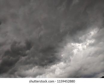 Dark storm clouds in a summer sky