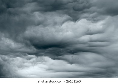 Dark stormy clouds forming before the rain