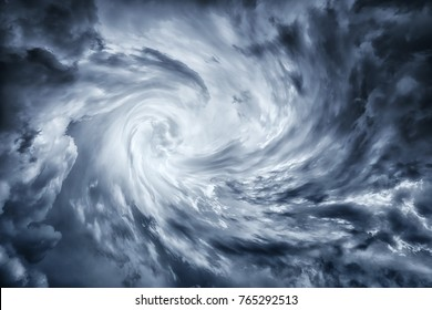 dark stormy cloudscape of hurricane vortex