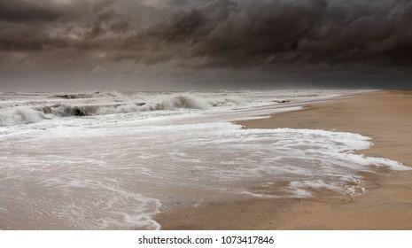Dark Stormy sky at Assateague National Refuge Beach