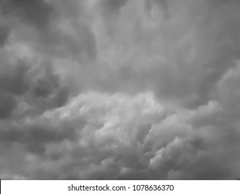 Dark stromy cloud for background and texture. - Shutterstock ID 1078636370