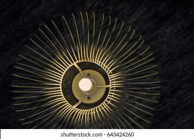 Dark tone. Decorative wall lights.