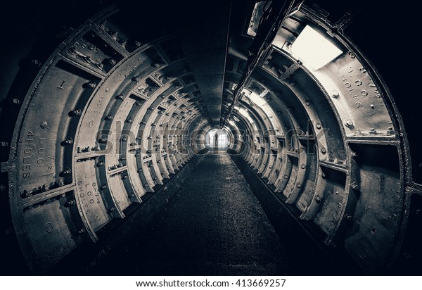 Dark tunnel with interesting structures