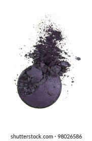 Dark violet eye shadow crushed sample