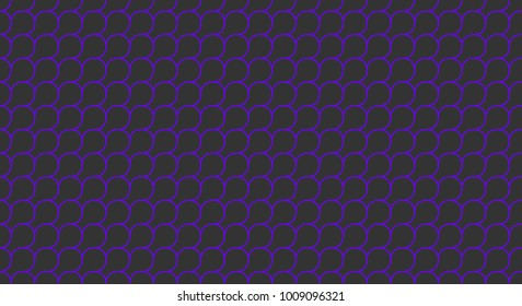 dark violet and dark slate gray squama or microbial mat seamless geometric pattern