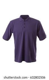 Dark violet T-shirt isolated on white background