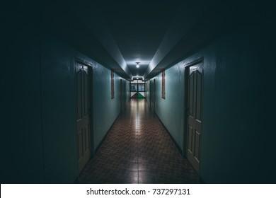 Dark walkway