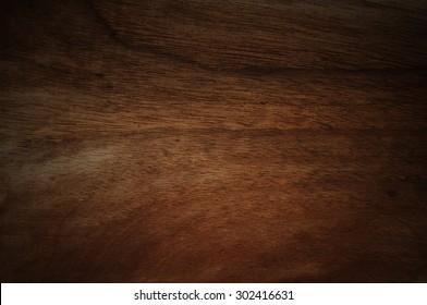 Dark walnut wood background faded
