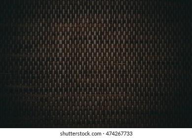 Dark wicker wooden wallpaper
