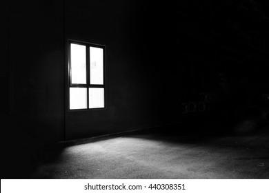 Dark Window in the Mystery Night