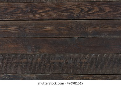 Dark wood background. Old rustic table. Top view