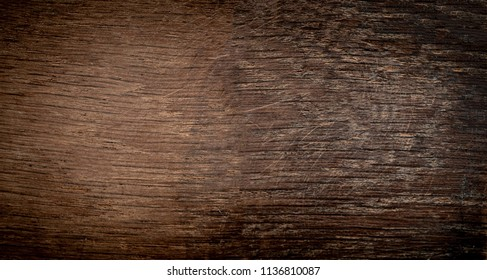 Dark wood bark texture background with old natural pattern. Dark brown wooden surface