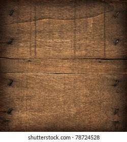 Dark wood board, as background