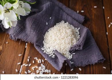Dark wood grain background Northeast rice