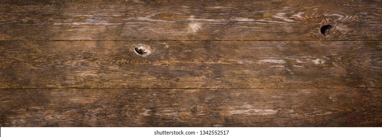 Dark wood planks as background or texture