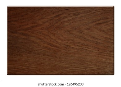 Dark wood plate isolated with clipping path included