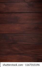 Dark wooden panel. Brown natural wood board