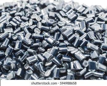 darkblue PET chips, master batch, polymer resin in laboratory, thermal storage master batch,  plastic granulate for injection molding process