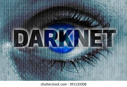 darknet eye looks at viewer concept background.