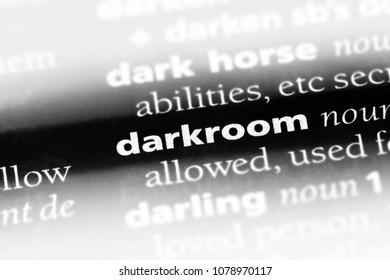 darkroom word in a dictionary. darkroom concept