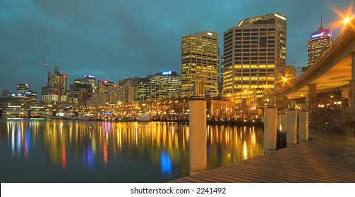 Darling Harbour At Night (Sydney, Australia)
