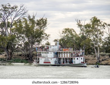 DARLING RIVER, WENTWORTH, NSW, November 5th, 2017: Paddlesteamer PS Ruby on a Darling River cruise during her 110th birthday celebrations.
