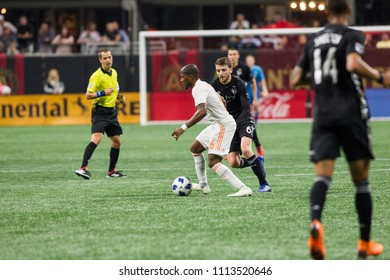 Darlington Nagbe _ #6 - MLS Atlanta United host Sporting Kansas City on Wednesday, 9th 2018 at the Mercedes Benz Stadium, Atlanta Ga - USA MLS Game #102