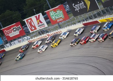 Darlington, SC - Sep 06, 2015:  The NASCAR Sprint Cup Series teams take to the track for the Bojangles' Southern 500 at Darlington Raceway in Darlington, SC.