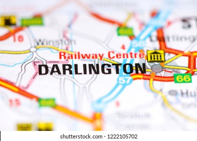 Darlington. United Kingdom on a map