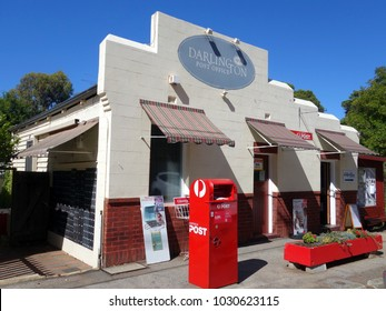 Darlington, Western Australia-  December 23, 2017:  The historic Darlington Post Office established in 1908 in a suburb of Perth, Western Australia