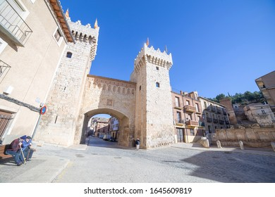 Daroca, Zaragoza province, Aragon,Spain on January 12, 2019. The down gate.