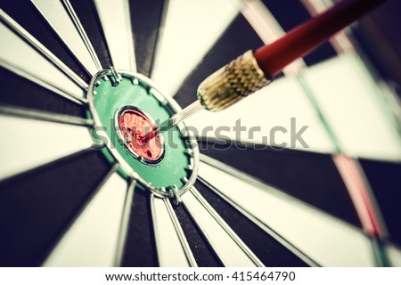 Dart arrow hitting in