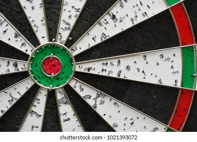 Dart board aiming, success after a lot of tries