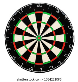 Dart board isolated on white background, including clipping path