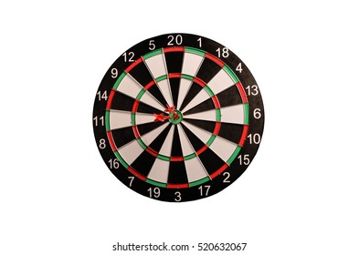 Dart board on a white background