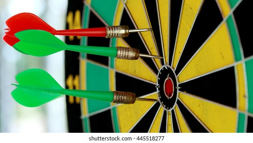 dart competition.Concept Goal tending