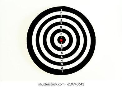 Dart goal ,business concept of target marketing. Success or Goal symbol.